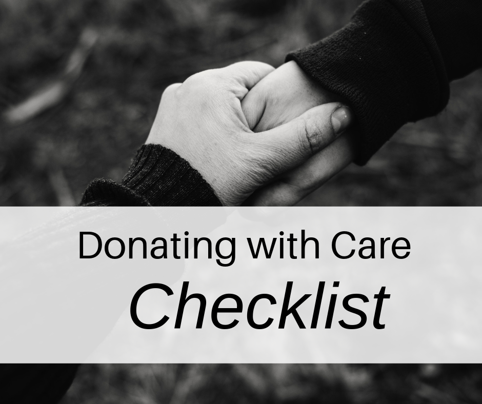 Donating with Care Checklist