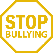 gold stop bullying stop sign icon