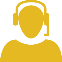 gold telemarketer icon